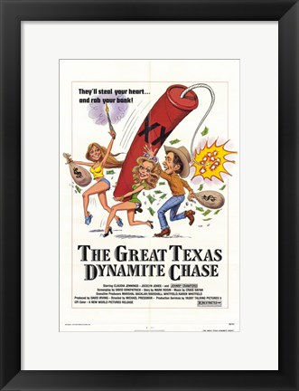 Framed Great Texas Dynamite Chase Print