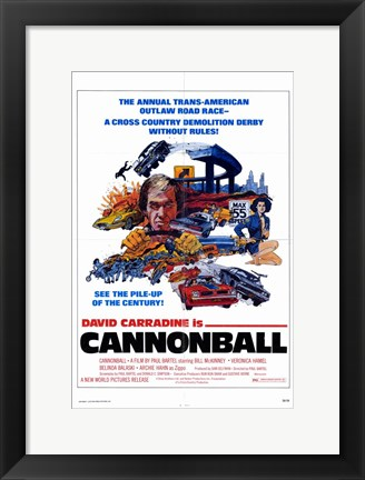 Framed Cannonball Print