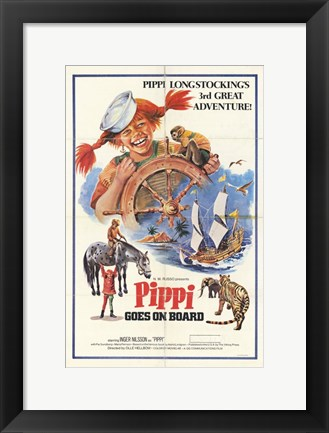Framed Pippi Goes on Board Print