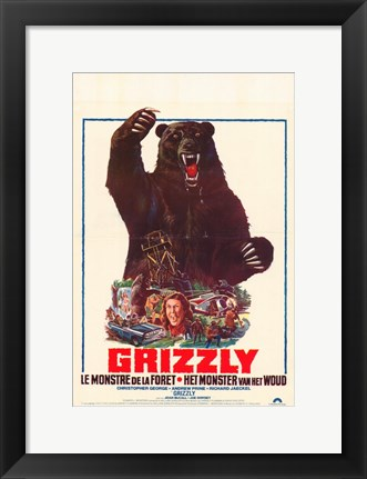 Framed Grizzly French Print