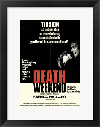 Framed Death Weekend Print