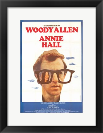 Framed Annie Hall Woody Allen (french) Print