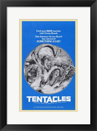 Framed Tentacles Black And White Print
