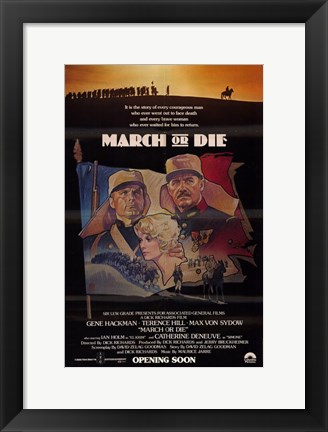 Framed March or Die Print