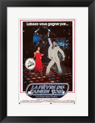 Framed Saturday Night Fever (The Bee Gees) - French Print
