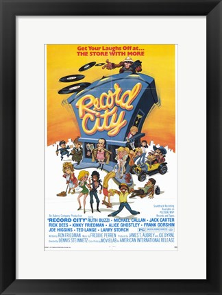 Framed Record City Print