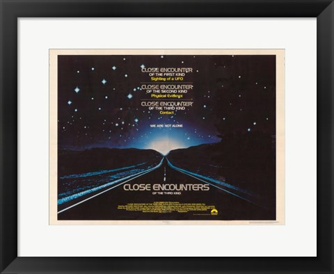 Framed Close Encounters of the Third Kind Road Horizontal Print