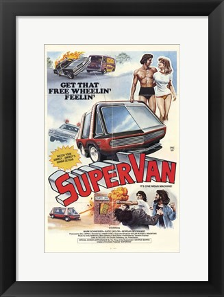 Framed Supervan Print