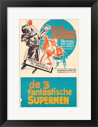 Framed Three Fantastic Supermen Print
