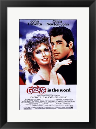 Framed Grease is the word Print