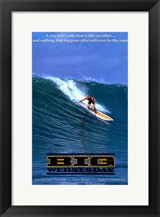 Framed Big Wednesday Surfing USA Print