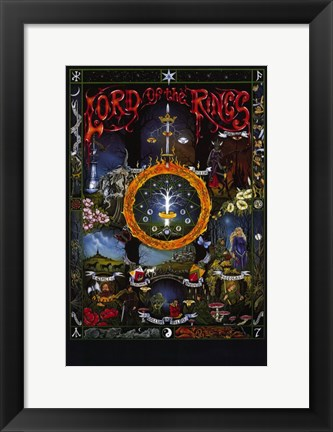Framed Lord of the Rings, animated - style B Print