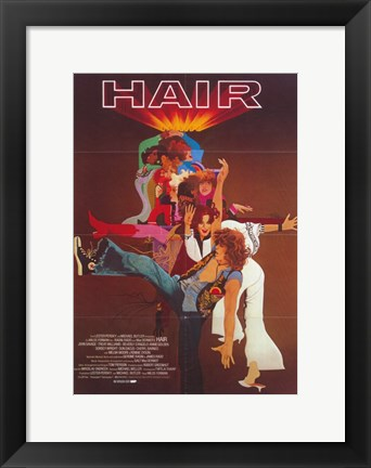 Framed Hair Musical Print
