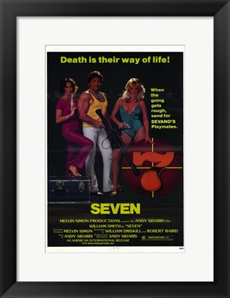 Framed Seven - Death is their way of life Print