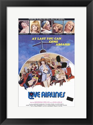 Framed Love Airlines Print