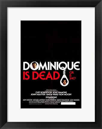 Framed Dominique is Dead Print