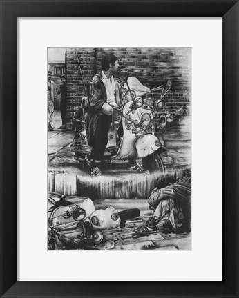 Framed Quadrophenia Motorcycle Print