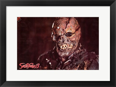 Framed Friday the 13th Jason Vorhees without Mask Print