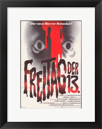 Framed Friday the 13th (german) Print