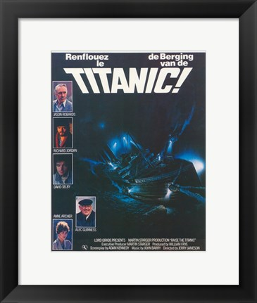 Framed Raise The Titanic Print