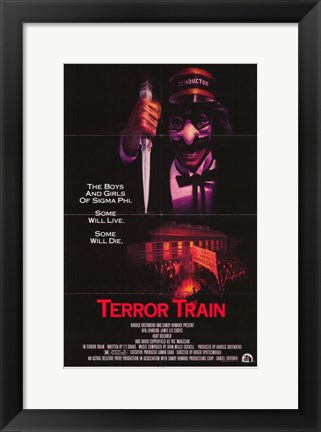 Framed Terror Train Print