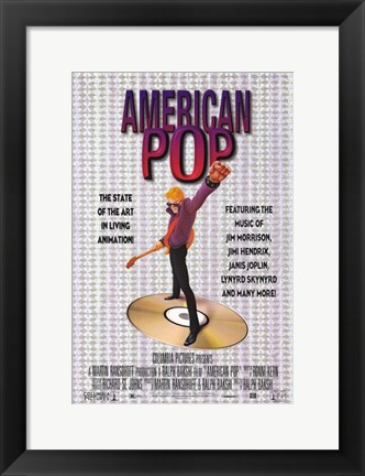 Framed American Pop Print