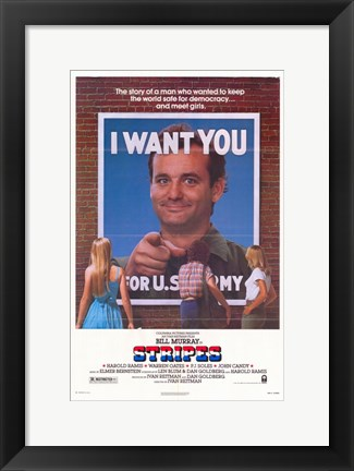 Framed Stripes - I want you Print