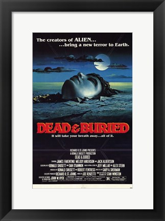 Framed Dead and Buried Print