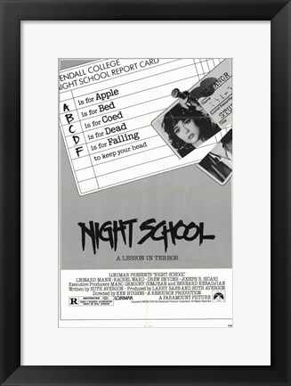 Framed Night School Print