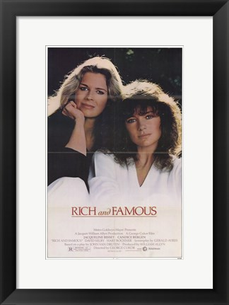 Framed Rich and Famous Print