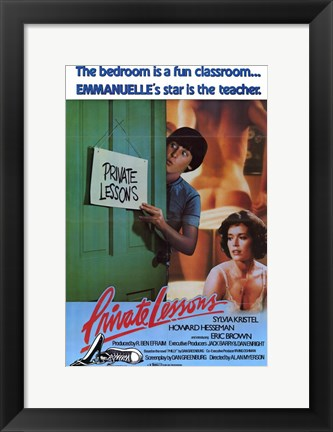 Framed Private Lessons, c.1981 Print