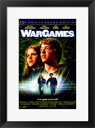 Framed War Games Matthew Broderick Print