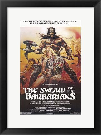 Framed Sword of the Barbarians Print