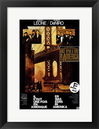Framed Once Upon a Time in America Leone & DeNiro Print