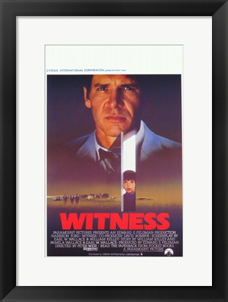 Framed Witness The Film Harrison Ford Print