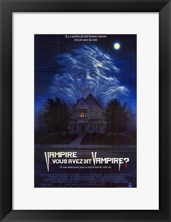 Framed Fright Night - dark house Print