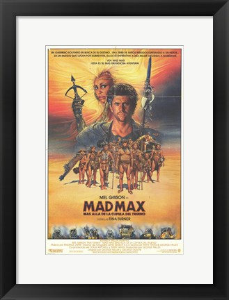 Framed Mad Max Beyond Thunderdome Mel Gibson Print