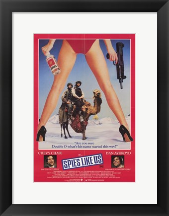 Framed Spies Like Us Print