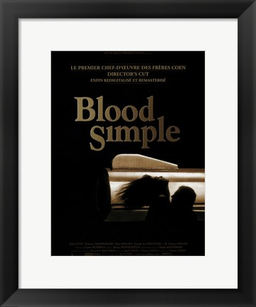 Framed Blood Simple Print