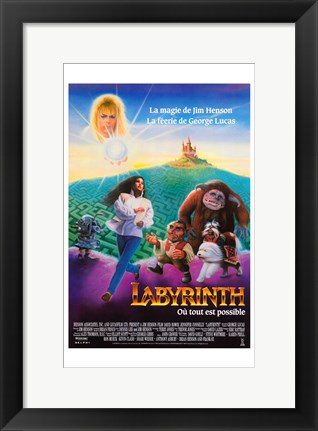 Framed Labyrinth - French Print