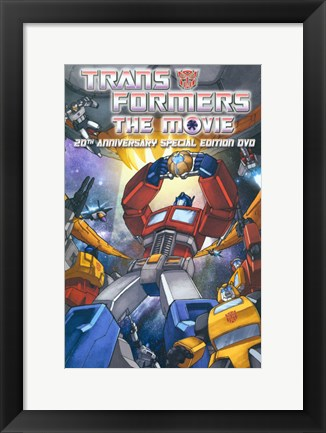 Framed Transformers: The Movie - style B Print