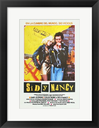 Framed Sid and Nancy - Spanish Print