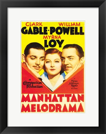 Framed Manhattan Melodrama Clark Gable Print