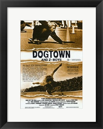 Framed Dogtown and Z-Boys Sepia Print