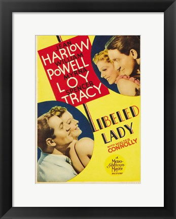 Framed Libeled Lady Harlow And Powell Print