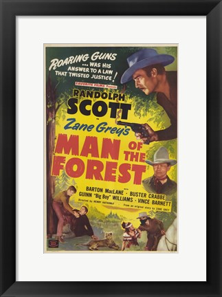 Framed Man of the Forest Print