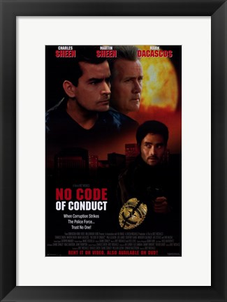 Framed No Code of Conduct Print