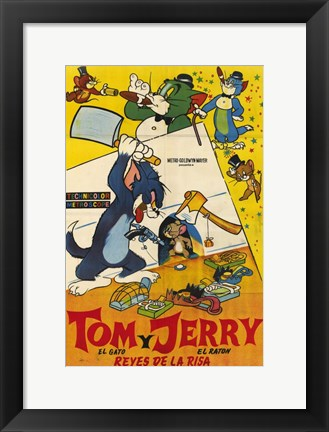 Framed Tom and Jerry - spanish Print