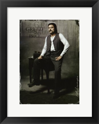 Framed Deadwood Ian McShane as AI Swearengen Print