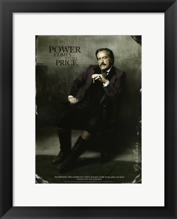 Framed Deadwood Powers Boothe as Cy Tolliver Print